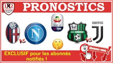 Pronostic Sassuolo Juventus Serie A GRATUIT 15-07