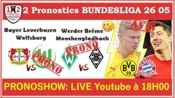 Pronostic Bayer Leverkusen Wolfsburg Bundesliga GRATUIT 26-05