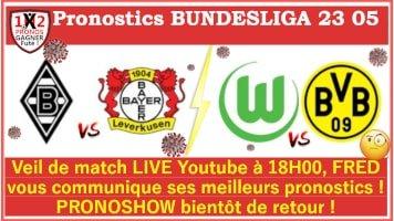 Pronostic Wolfsburg Borussia Dortmund Bundesliga GRATUIT 23-05