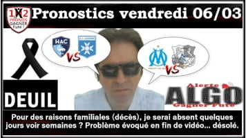 2 Pronostics vendredi 06 03 Alerte ALGO Gagner Futé de FRED tipster Gagner futé GF x200-min