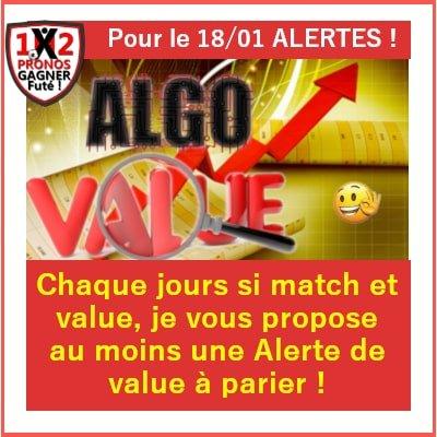 Algo Alerte Value bet Gagner Futé
