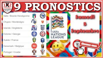 9 Pronostics Ligue des Nations UEFA de FRED Tipster Gagner Futé pour le samedi 5 septembre 2020 WP-min