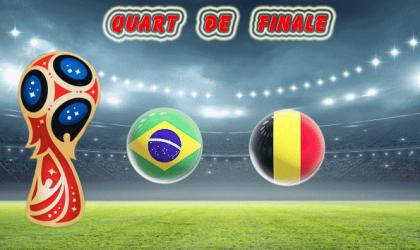 Pronostic Coupe du Monde quart de finale :  Brésil vs Belgique