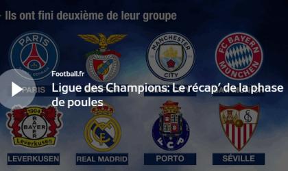Ligue des Champions: Le récapitulatif en vidéo de la phase de poules