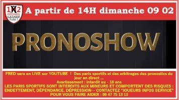 Pronoshow LIVE pour tes paris sportifs