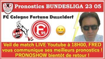 Pronostic FC Cologne Fortuna Dusseldorf Bundesliga GRATUIT 24-05