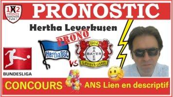 Pronostic Hertha Leverkusen Bundesliga GRATUIT 20-06
