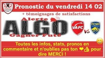 Pronostic Vendredi 14 02 Alerte ALGO Gagner Futé de FRED tipster Gagner futé GF x200-min