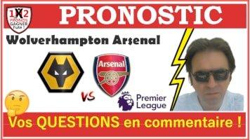 Pronostic Wolverhampton Arsenal Premier League GRATUIT 04-07 Pronostics FOOTBALL de FRED Tipster Gagner futé Gagné WPx200H-min