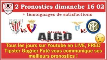 Pronostics dimanche 16 02 Alerte ALGO Gagner Futé de FRED tipster Gagner futé GFx200-min